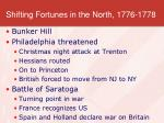 shifting fortunes in the north 1776 1778