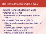 the confederation and the west