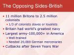 the opposing sides british