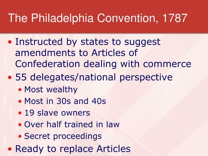 The Philadelphia Convention, 1787