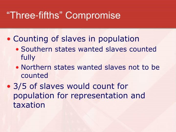 """Three-fifths"" Compromise"