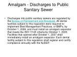 amalgam discharges to public sanitary sewer