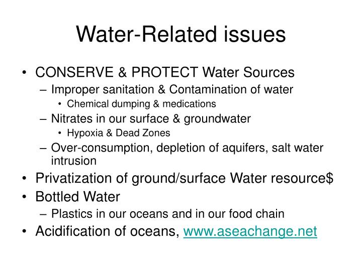 Water-Related issues