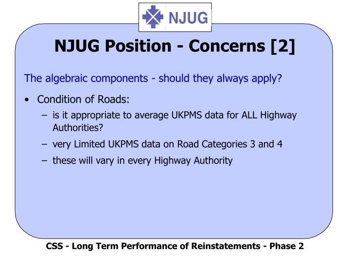NJUG Position - Concerns [2]