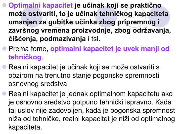 Optimalni kapacitet