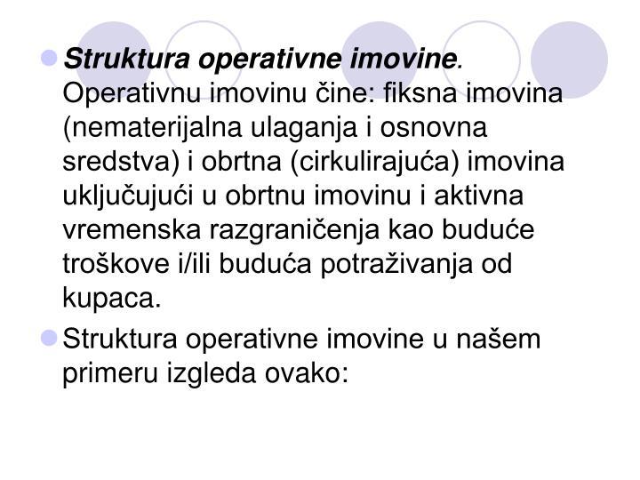 Struktura operativne imovine