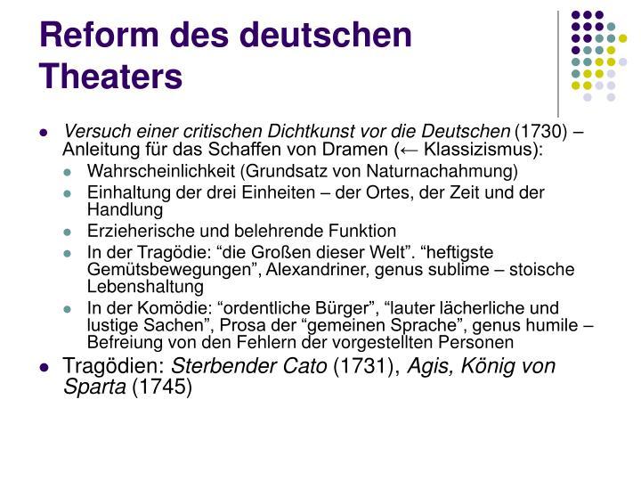 Reform des deutschen Theaters