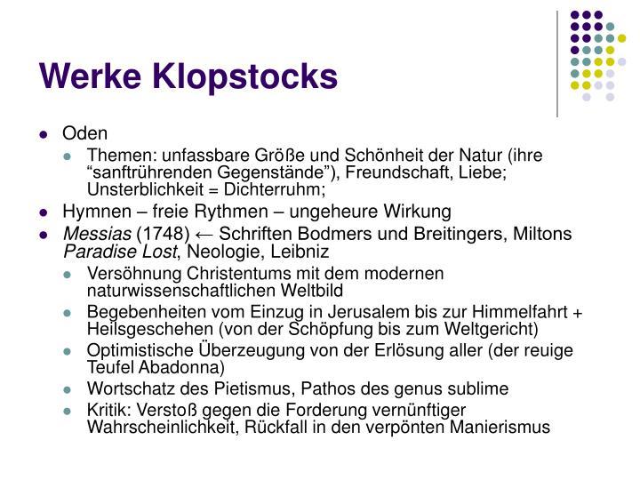 Werke Klopstocks