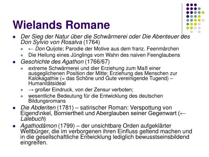 Wielands Romane