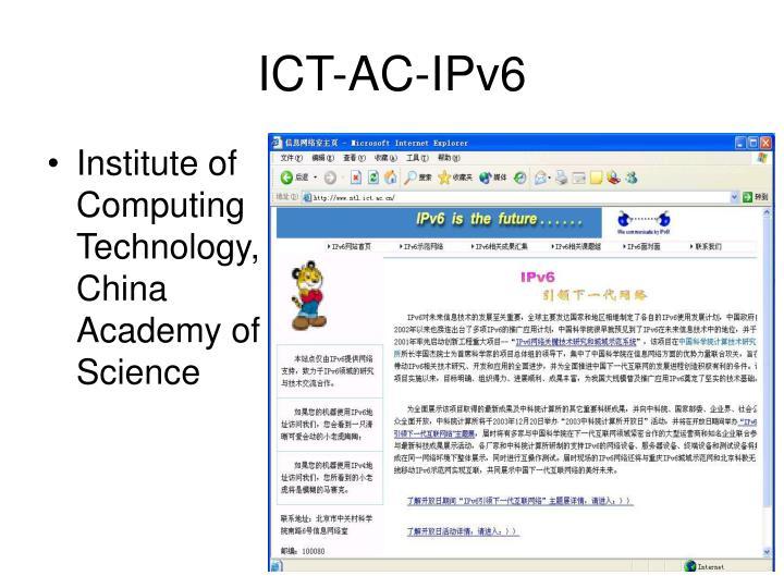 ICT-AC-IPv6