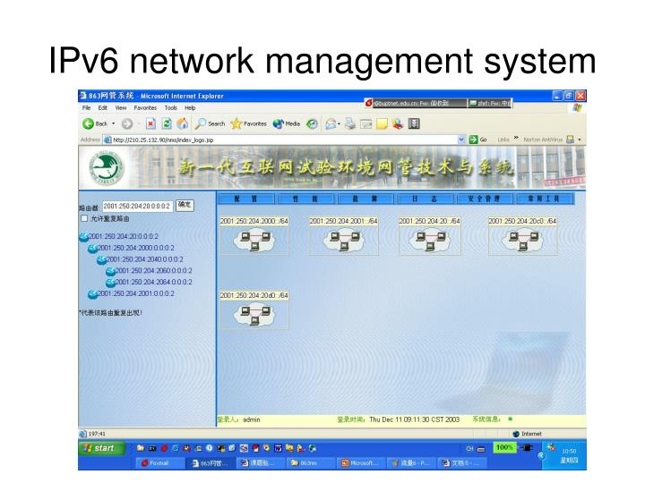 IPv6 network management system