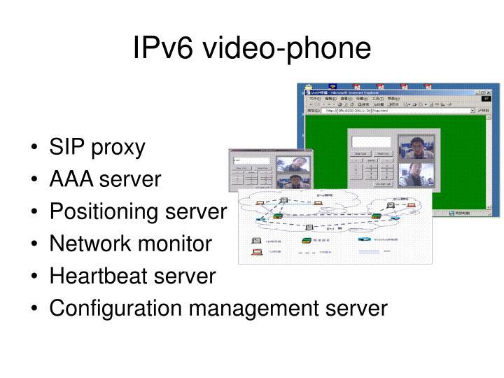 IPv6 video-phone