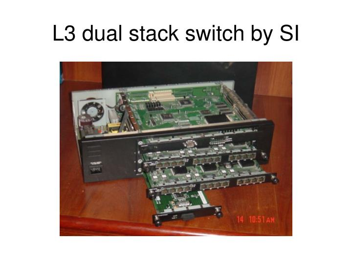 L3 dual stack switch by SI