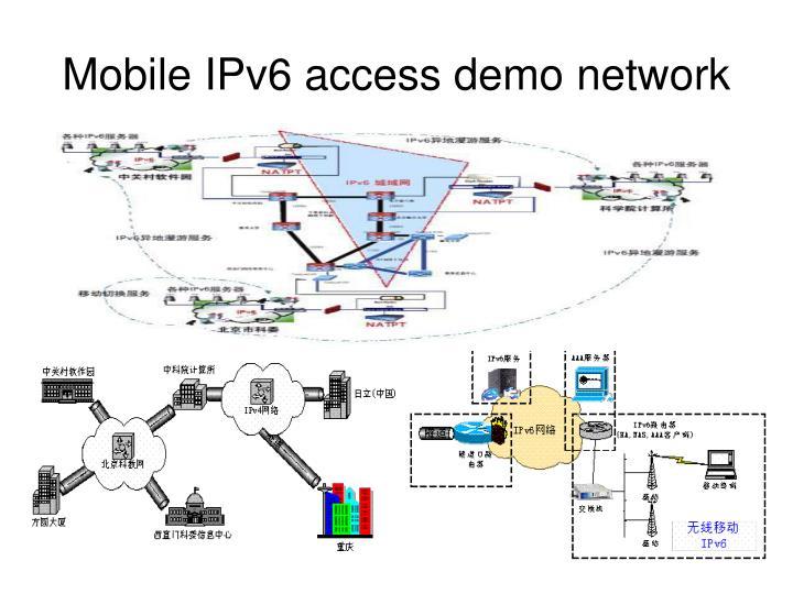 Mobile IPv6 access demo network