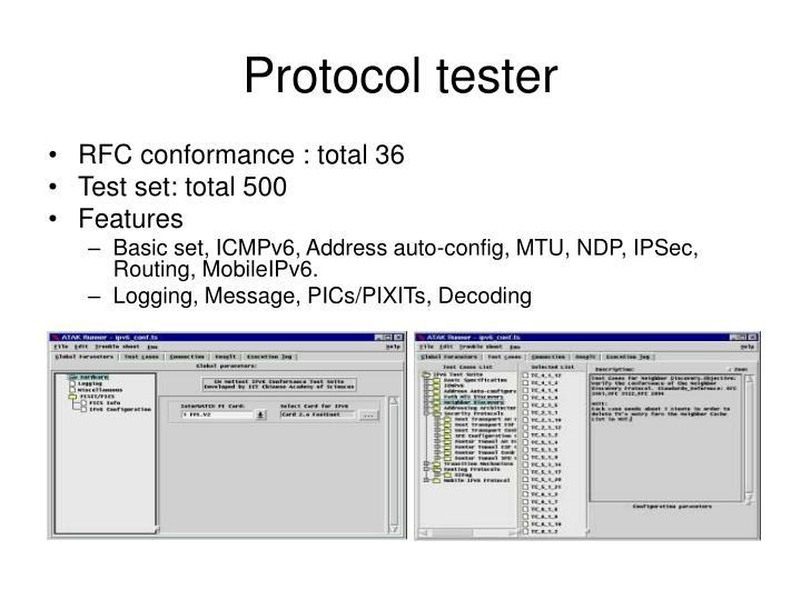Protocol tester