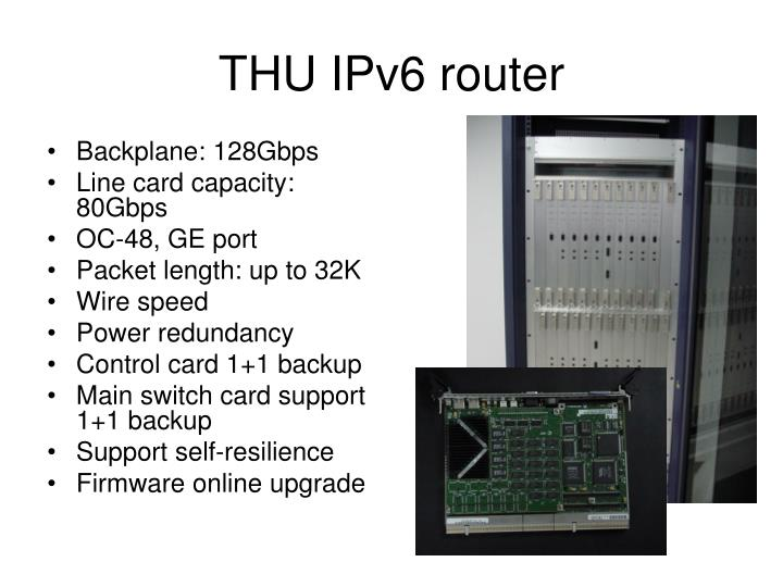 THU IPv6 router