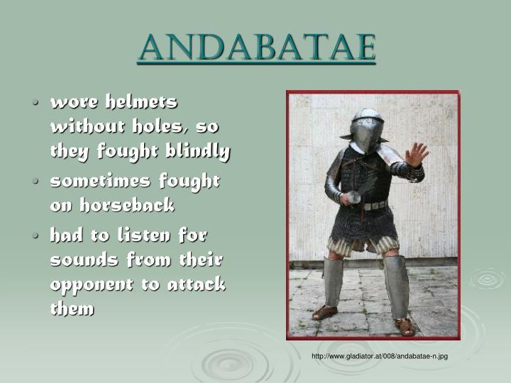 Andabatae