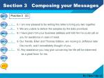 section 3 composing your messages4