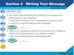 section 4 writing your message4