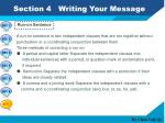 section 4 writing your message5