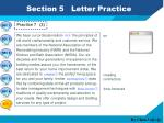 section 5 letter practice3