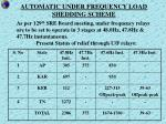 automatic under frequency load shedding scheme
