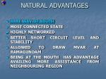natural advantages