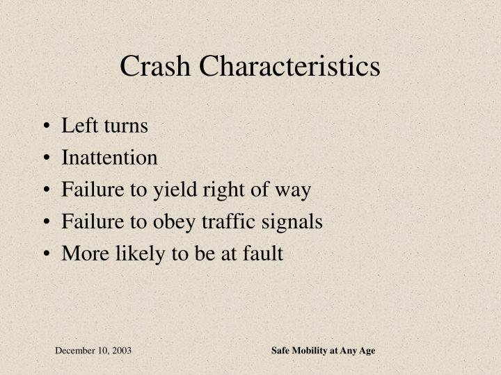 Crash Characteristics