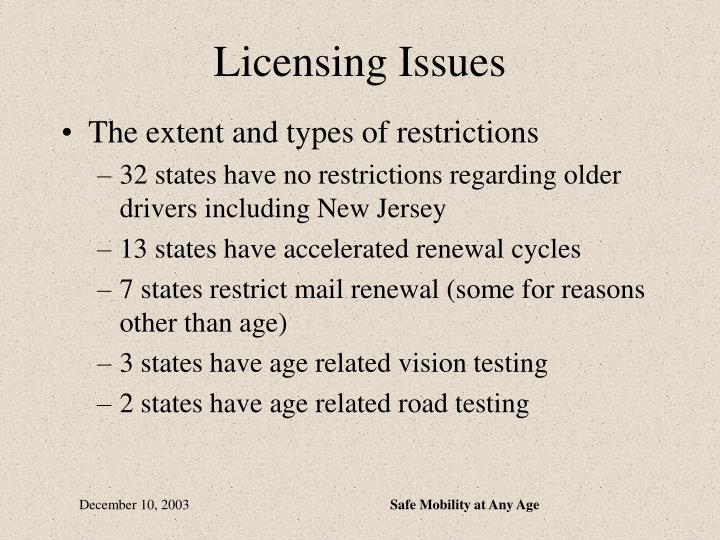 Licensing Issues