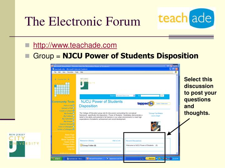 The Electronic Forum