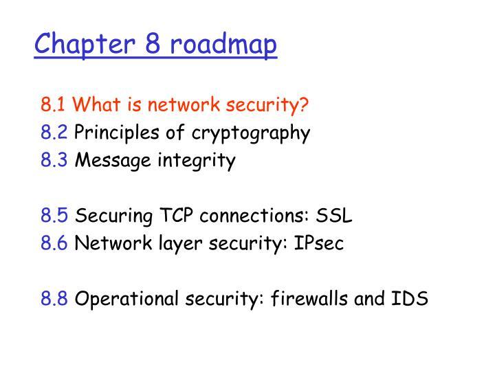 Chapter 8 roadmap