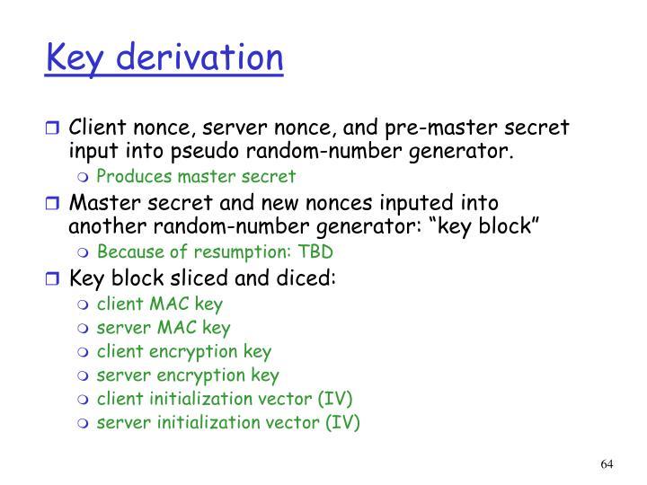 Key derivation