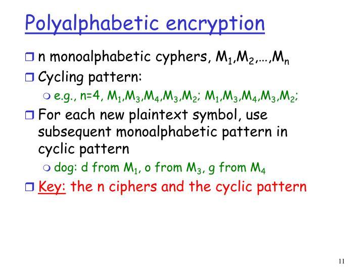 Polyalphabetic encryption