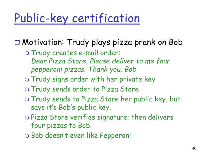 Public-key certification