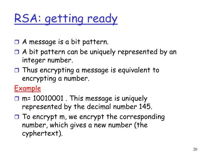 RSA: getting ready
