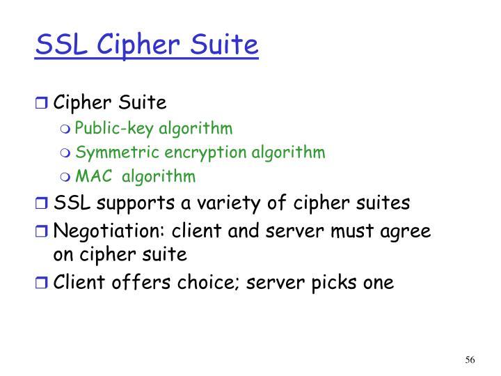 SSL Cipher Suite