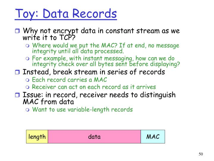 Toy: Data Records