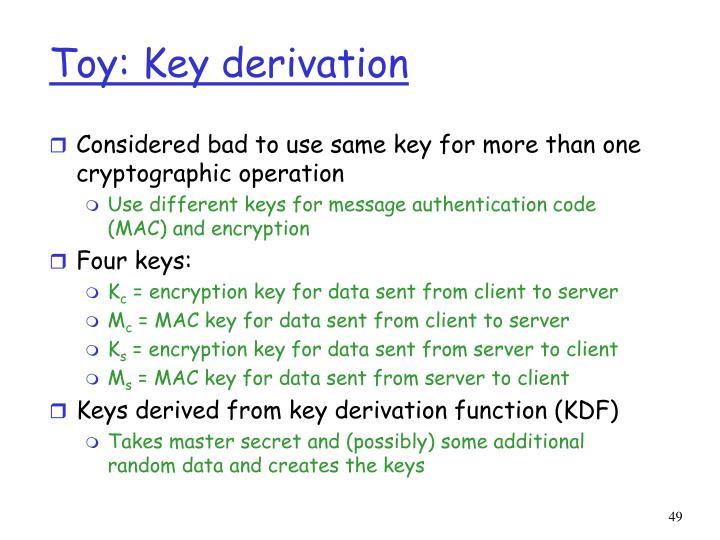 Toy: Key derivation