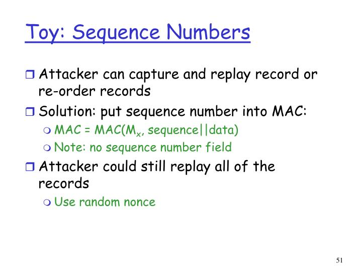 Toy: Sequence Numbers
