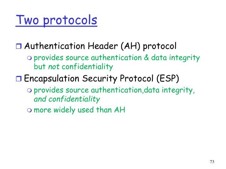 Two protocols