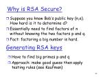 why is rsa secure