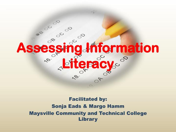 Assessing information literacy