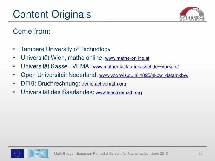 Content Originals