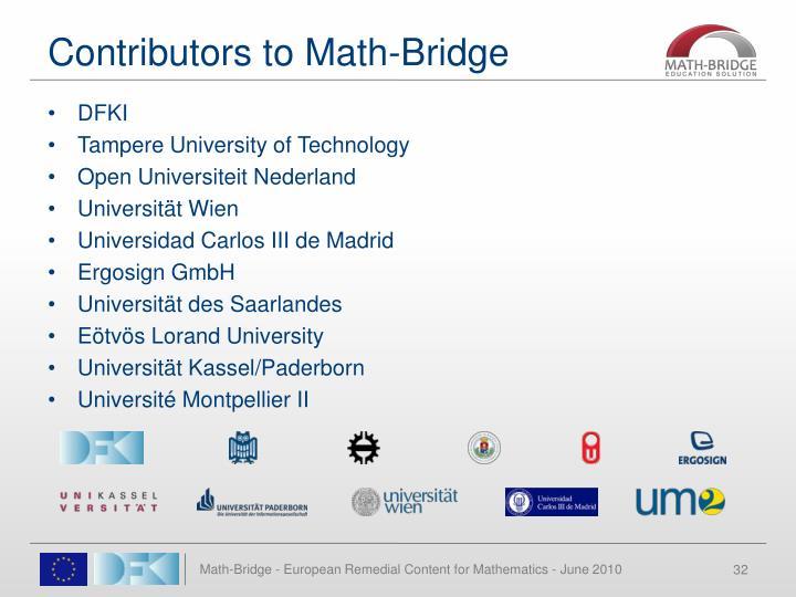 Contributors to Math-Bridge