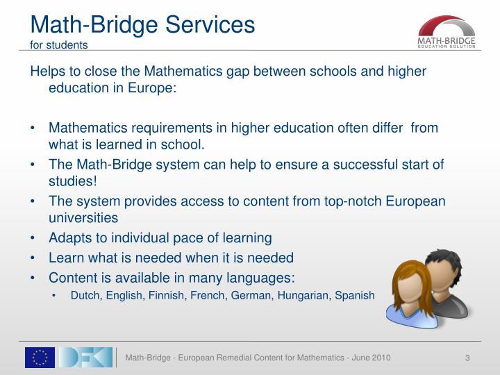 Math-Bridge Services