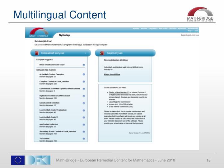 Multilingual Content