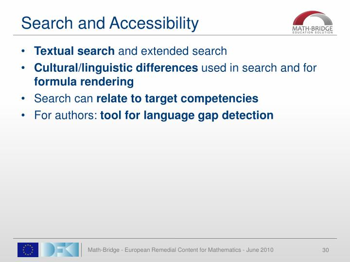 Search and Accessibility
