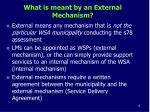 what is meant by an external mechanism