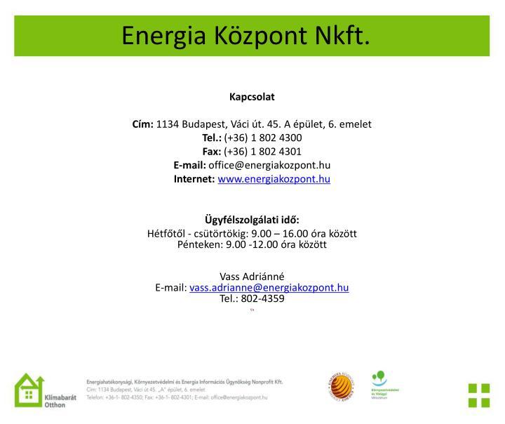 Energia Központ Nkft.