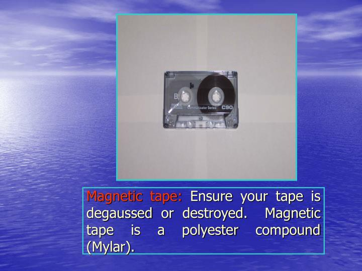Magnetic tape: